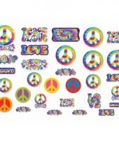 Kartonnen hippie decoratie 30 stuks