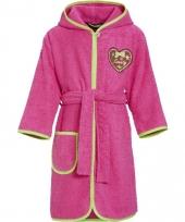 Katoenen badjas fuchsia voor kinderen