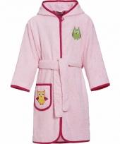 Katoenen badjas roze voor kinderen