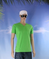 Katoenen lemon soda heren lime v hals shirt