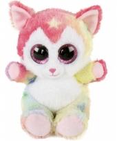 Katten knuffeldier 14 cm