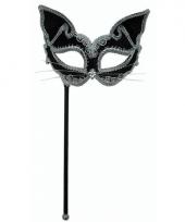 Katten oogmasker op stokje
