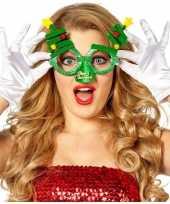 Kerst accessoires fun bril groen kerstbomen voor volwassenen