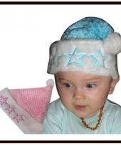 Kerst baby mutsje met sterren