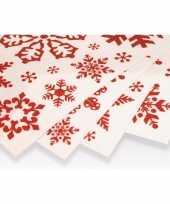 Kerst decoratie raamstickers rode sneeuwvlokken