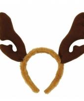 Kerst haarband met bruin gewei