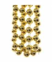 Kerst kralen ketting goud 270 cm