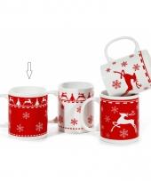 Kerst melkbeker rood type 1