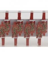 Kerst thema wasknijpers rendier in trein 8 stuks