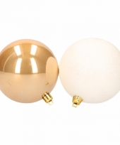 Kerstbal pakket goud en wit 10088660