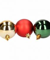 Kerstbal pakket rood en groen 10081377