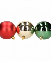 Kerstbal pakket rood en groen 10081380