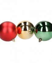 Kerstbal pakket rood en groen 10081388