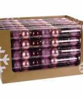 Kerstbal pakket roze en rood 10081379