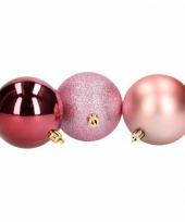 Kerstbal pakket roze en rood