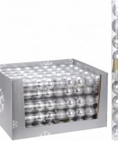 Kerstbal pakket zilver 6 cm 10081368