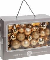 Kerstballen goud diverse formaten