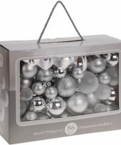 Kerstballen zilver diverse formaten