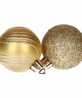 Kerstballenset goud 2 soorten 10065913