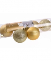 Kerstballenset goud 2 soorten 6 cm 10074431