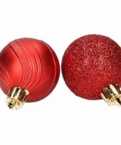 Kerstballenset rood 2 soorten 10074408