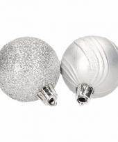 Kerstballenset zilver 2 soorten 10074406
