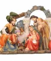 Kerstbeeldje polystone 17 x 15 cm