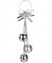 Kerstbellen decoratiehanger zilver 50 cm