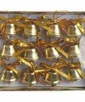 Kerstbelletjes goud ijzer 12 stuks