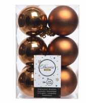 Kerstboom ballen 24x koper 6 cm