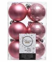 Kerstboom ballen oud roze 6 cm