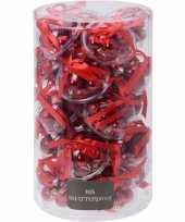 Kerstboom decoratie rode mini kerstballetjes 3 cm 12 stuks