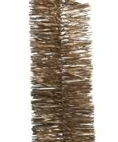 Kerstboom folie slinger bruin 270 cm