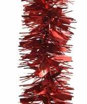Kerstboom folie slinger mat glans rood 270 cm