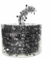 Kerstboom folie slinger met ster antraciet 700 cm