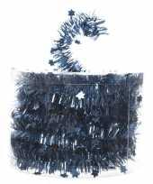 Kerstboom folie slinger met ster blauw 700 cm