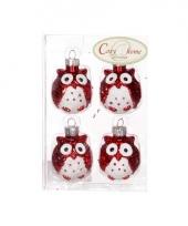 Kerstboom hangers rode uil