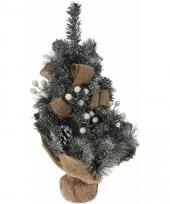 Kerstboom met jute versiering wit 50 cm