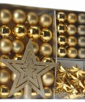 Kerstboom versieringset goud 45 delig
