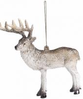 Kerstboomdecoratie rendieren hangertje 15 cm type 1