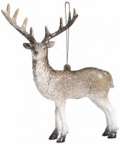 Kerstboomdecoratie rendieren hangertje 15 cm type 2
