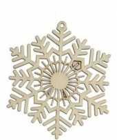 Kerstboomhanger kersthanger sneeuwvlokken 10 cm hout 10111265
