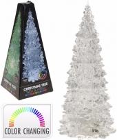Kerstboompje met led licht 27 cm