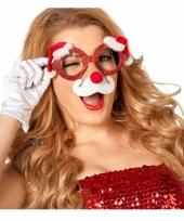 Kerstbrillen met neus voor volwassenen