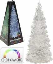 Kerstdecoratie led boompje 22 cm