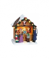 Kerstdorp marktkraam kerstmannen