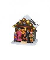 Kerstdorp marktkraam met knuffels