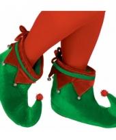 Kerstelf accessoires groene schoentjes