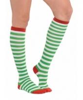 Kerstelf kousen voor volwassenen
