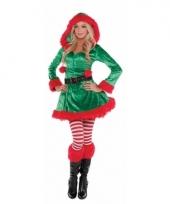 Kerstelf outfit voor dames